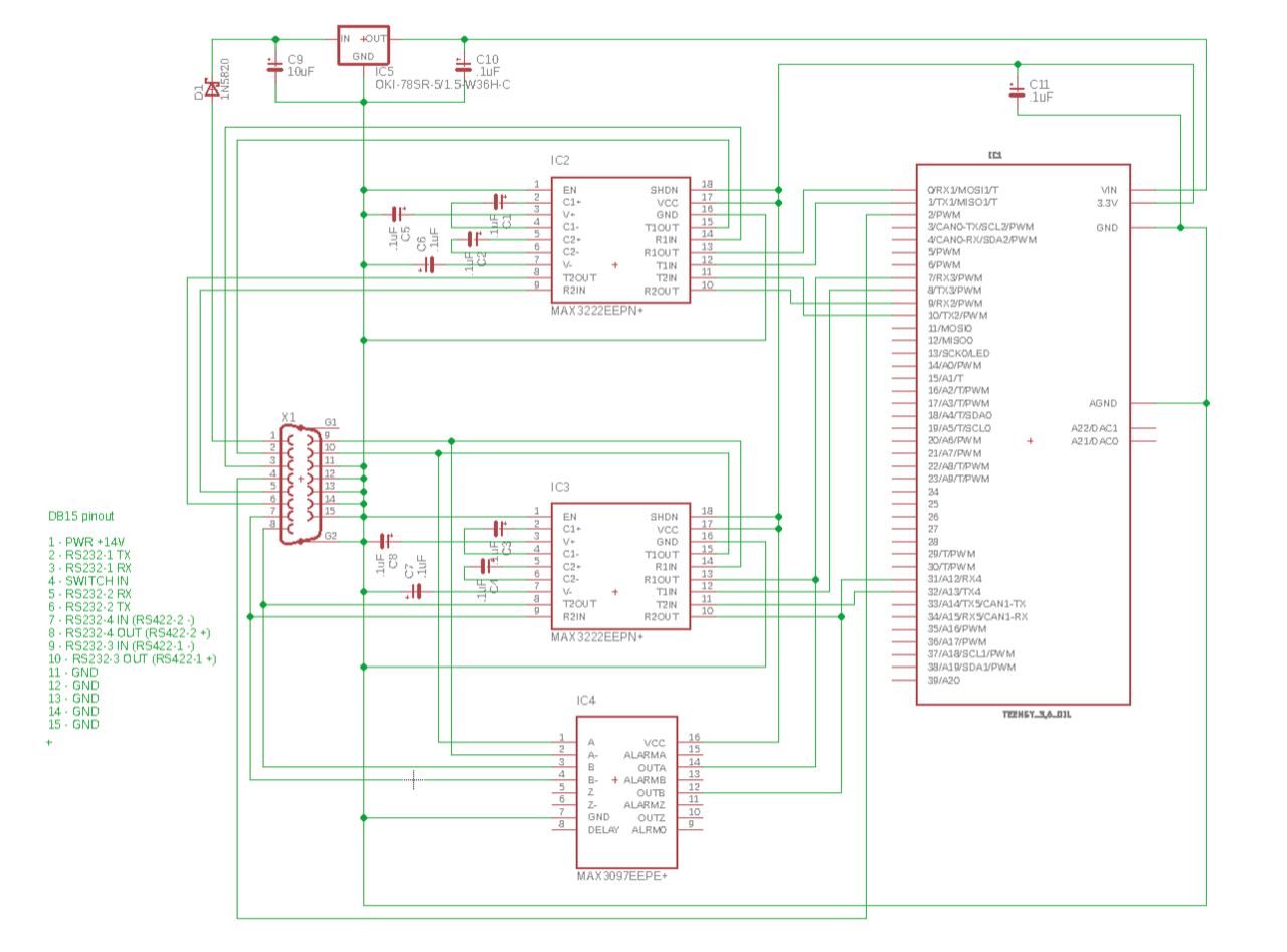 Rs422 To Rs232 Converter Schematic Gdl90 422r13 Board Bottom 7383 Kb